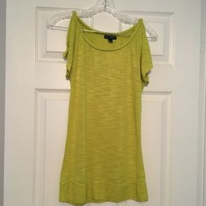 Will Smirh lime green slit sleeve top size S